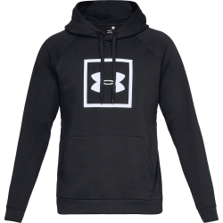 Under Armour Rival Fleece Logo Hoodie Svart