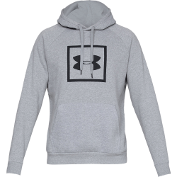 Under Armour Rival Fleece Logo Hoodie Stålgrå