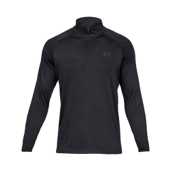 Under Armour Tech™ ½ Zip Långärmad funktionströja Svart