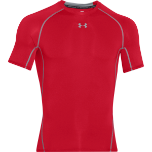 Under Armour HeatGear® Short Sleeve Compression Shirt Red
