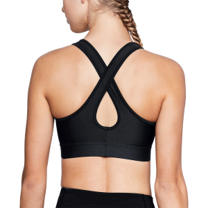 Women's Under Armour® Mid Crossback Sports Bra Black