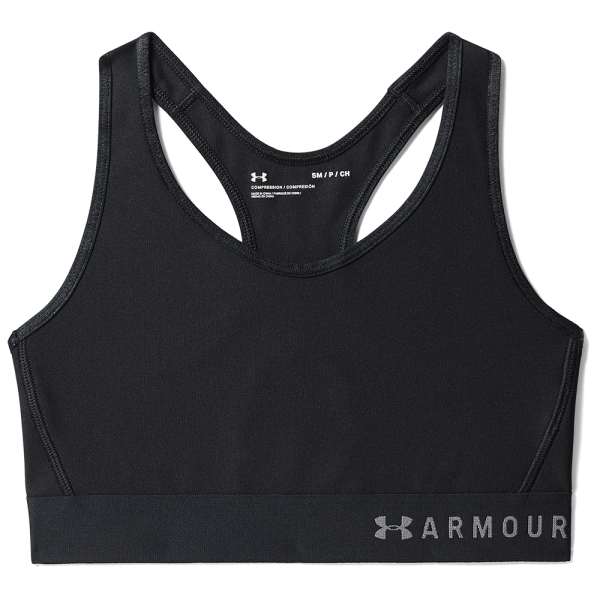 Under Armour Mid Keyhole Sport BH Svart