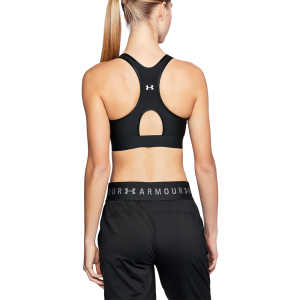 Women's Under Armour Mid Keyhole Sports Bra Black